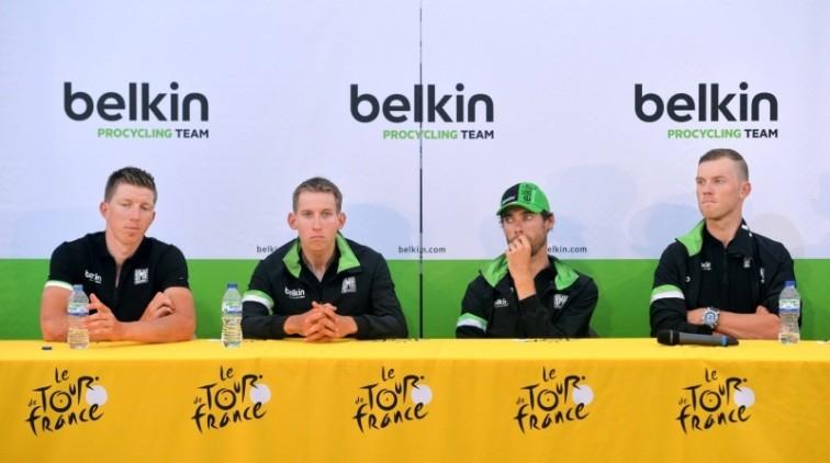 Nederlandse ploegen in Tour rijden met rouwbanden