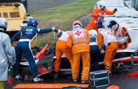 Helmstickers als steun voor Bianchi