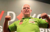 Michael van Gerwen: ninedarter en winst op Barney