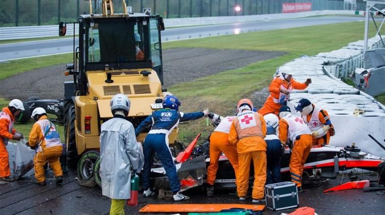 Zwaar hoofdletsel Jules Bianchi
