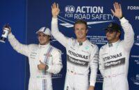Mercedes vestigt record met elfde een-twee
