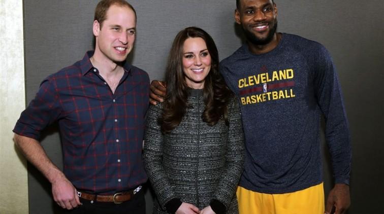Prinselijk paar inspireert LeBron James