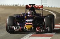 Toro Rosso-rijder Max Verstappen in actie tijdens de kwalificatie in Singapore.