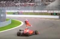 Moedige Rus riskeert zijn leven tijdens F1-race