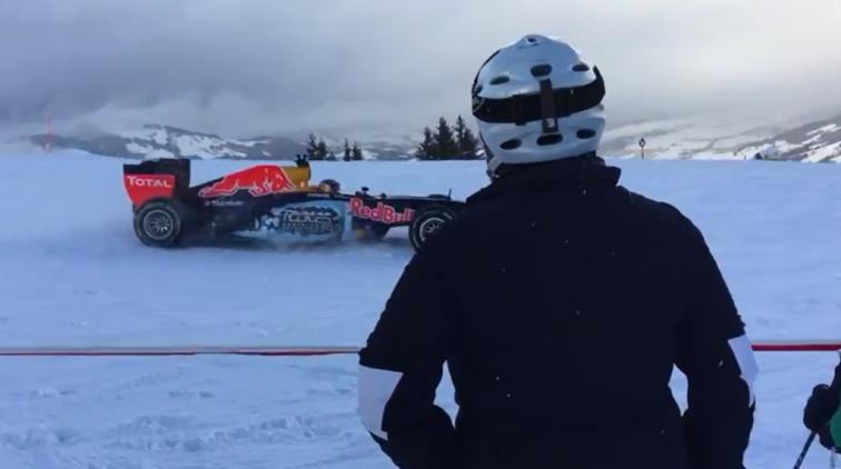 Verstappen maakt 1ste meters in de sneeuw