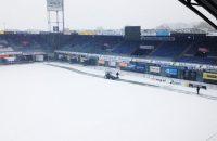 Sneeuw op veld PEC, duel met Feyenoord onzeker