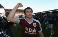 BURNLEY, UNITED KINGDOM - MAY 02:  Joey Barton of Burnley celebrates as they are promoted to the Premier League after the Sky Bet Championship match between Burnley and Queens Park Rangers at Turf Moor on May 2, 2016 in Burnley, United Kingdom. Burnley defeated QPR 1-0 to gain promotion.  (Photo by Jan Kruger/Getty Images)