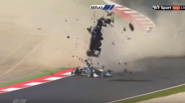 Horrorcrash in Formule 3