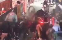 Massale crash in wielerkoers door stilstaande motor