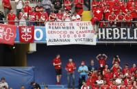 Griekenland protesteert bij UEFA vanwege spandoek