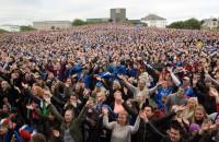 Heel IJsland kijkt mee naar wonderbaarlijke zege