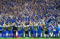 IJslandse commentator in alle staten na winnende goal