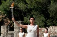 Onverlaat probeert olympische vlam te doven