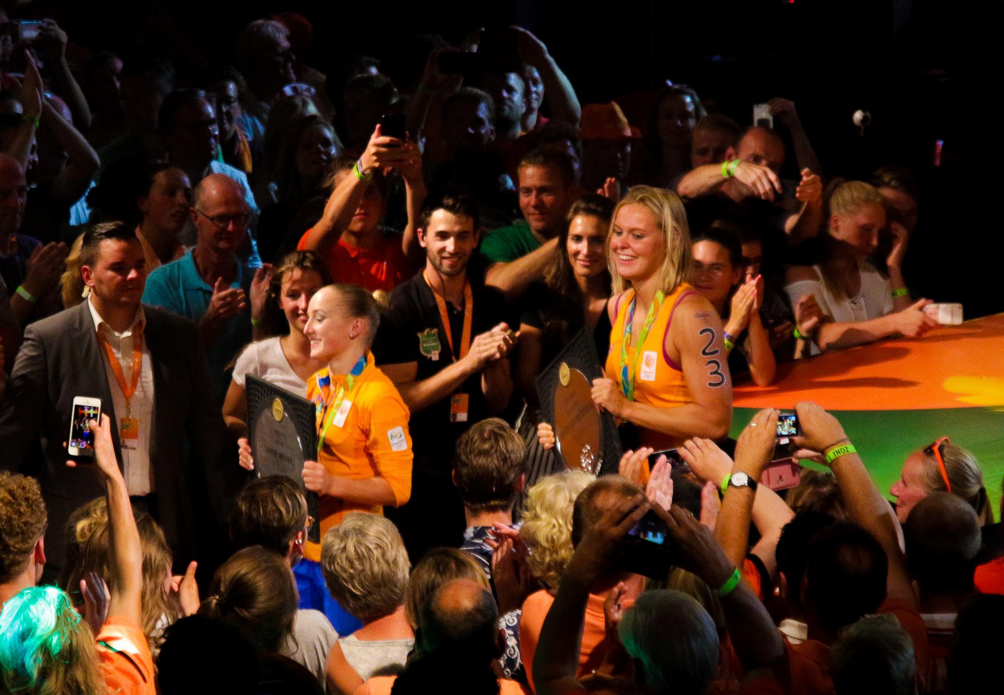 Huldiging Sanne Wevers en Sharon v Rouwendaal-9