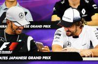 Hamilton druk met Snapchat tijdens persconferentie