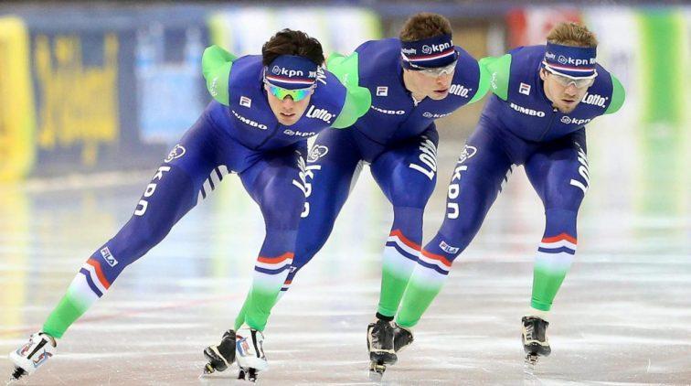 Nederlandse schaatsers superieur op achtervolging