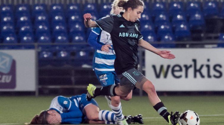 Ajax PEC Zwolle vrouwenvoetbal Soraya Verhoeven