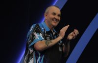 WLLIAM HILL WORLD DARTS CHAMPIONSHIP 2017 ALEXANDRA PALACE,LONDON PIC;LAWRENCE LUSTIG ROUND 1 PHIL TAYLOR V DAVID PLATT PHIL TAYLOR IN ACTION