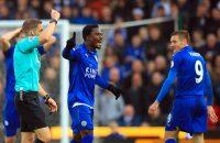 Leicester City vecht rode kaart Vardy aan