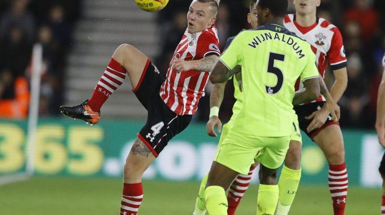 Southampton deelt tikje uit aan Liverpool