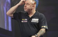 WLLIAM HILL WORLD DARTS CHAMPIONSHIP 2017 ALEXANDRA PALACE,LONDON PIC;LAWRENCE LUSTIG SEMI FINAL GARY ANDERSON V PETER WRIGHT PETER WRIGHT IN. ACTION