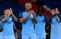 "Britain Football Soccer - Crystal Palace v Manchester City - FA Cup Fourth Round - Selhurst Park - 28/1/17 Manchester City's Vincent Kompany applauds fans after the game  Action Images via Reuters / Tony O'Brien Livepic EDITORIAL USE ONLY. No use with unauthorized audio, video, data, fixture lists, club/league logos or ""live"" services. Online in-match use limited to 45 images, no video emulation. No use in betting, games or single club/league/player publications.  Please contact your account representative for further details."