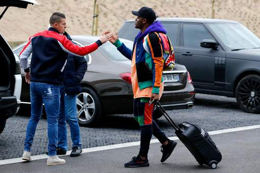 Arrival of the Belgian National Football team - 20170320