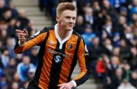 "Britain Soccer Football - Leicester City v Hull City - Premier League - King Power Stadium - 4/3/17 Hull City's Sam Clucas celebrates scoring their first goal  Reuters / Stefan Wermuth Livepic EDITORIAL USE ONLY. No use with unauthorized audio, video, data, fixture lists, club/league logos or ""live"" services. Online in-match use limited to 45 images, no video emulation. No use in betting, games or single club/league/player publications. Please contact your account representative for further details.  © PHOTO NEWS / PICTURE NOT INCLUDED IN THE CONTRACTS  ! only BELGIUM !"