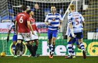 READING, ENGLAND - JANUARY 24:  Roy Beerens of Reading (7) celebrates with team mates as he scores their first goal during the Sky Bet Championship match between Reading and Fulham at Madejski Stadium on January 24, 2017 in Reading, England.  (Photo by Dan Mullan/Getty Images)