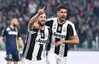 Higuaín knalt koploper Juventus voorbij Chievo