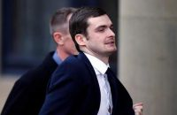 Former England footballer Adam Johnson arrives at Bradford Crown Court, where he is expected to be jailed after he was found guilty of one offence of sexual activity with a child by a jury there earlier this month, in Bradford, England, Thursday, March 24, 2016. (Peter Byrne/PA via AP)      UNITED KINGDOM OUT       -     NO SALES      -     NO ARCHIVES