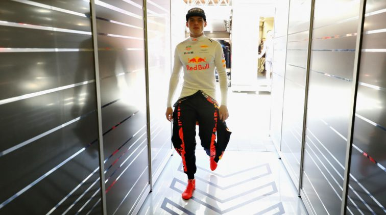 MONTMELO, SPAIN - MAY 13: Max Verstappen of Netherlands and Red Bull Racing walks into the garage during qualifying for the Spanish Formula One Grand Prix at Circuit de Catalunya on May 13, 2017 in Montmelo, Spain.  (Photo by Mark Thompson/Getty Images)