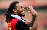 Belgium's Jason Denayer celebrates after winning a friendly soccer game between Belgian national soccer team Red Devils and the Norvegian national soccer team, on Sunday 05 June 2016, in Brussels. The team is preparing for the upcoming Euro 2016 UEFA European Championship in France. BELGA PHOTO JASPER JACOBS