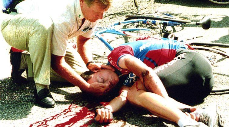 Tour passeert plek waar Casartelli viel en overleed   Sportnieuws