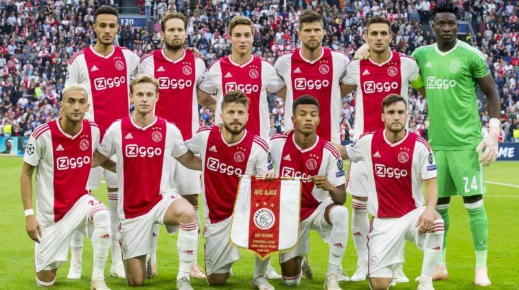 Opstelling van Ajax in Turijn