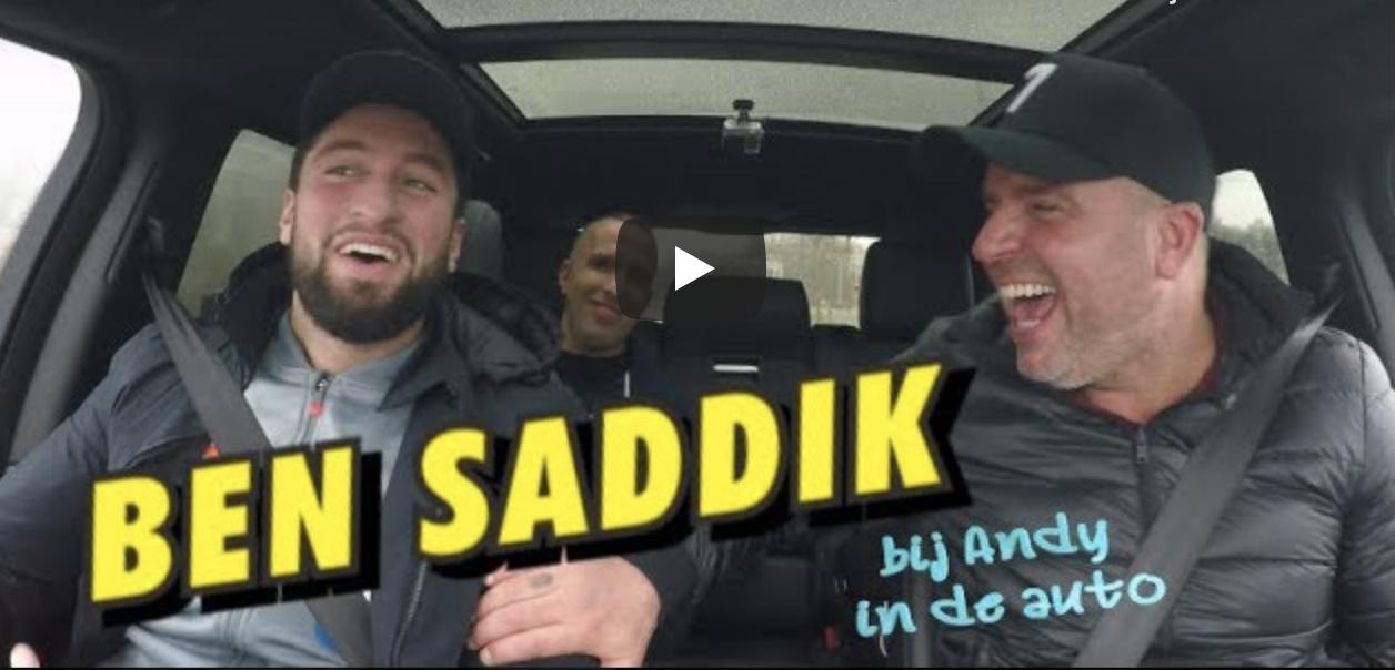 Bij Andy in de auto Ben Saddik