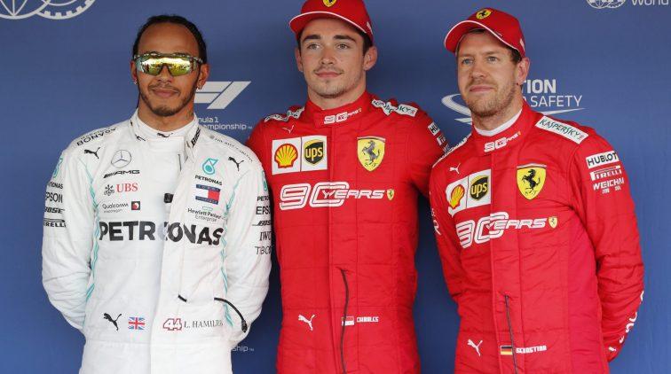 Leclerc Vettel Hamilton