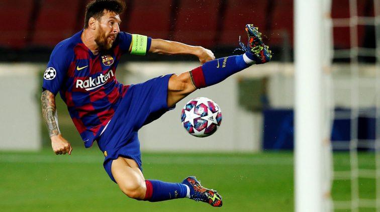 Lionel Messi Barcelona Napoli Champions League