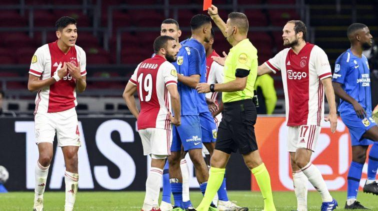 Rode kaart Alvarez Ajax Vitesse