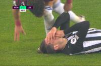 Leeds United Newcastle Rodrigo Fabian Schär schwalbes toneelspel gele kaart