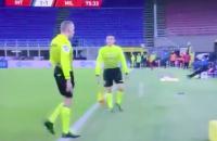 Paolo Valeri Milan Inter derby scheids blessure hamstring romelu lukaku zlatan rood derby