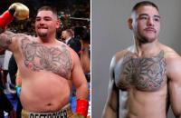 Andy Ruiz bokser dikzak afgevallen kilo's lichter
