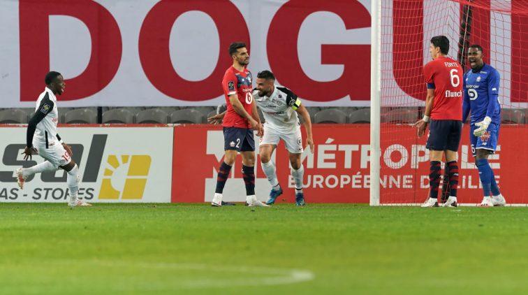 Spelers van Lille balen.