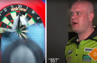 Michael van Gerwen sponsor PDC blinde darts geblindeerd