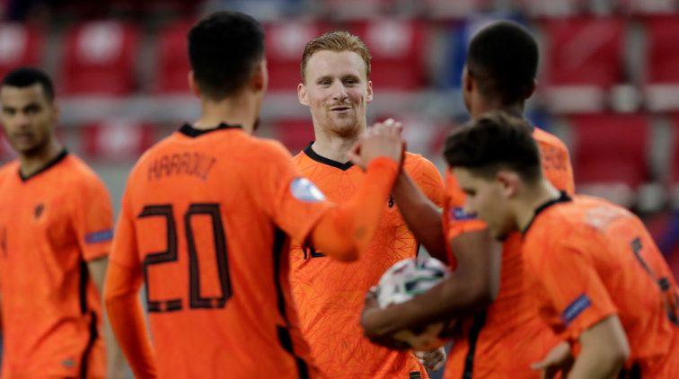 Spelers van Jong Oranje.