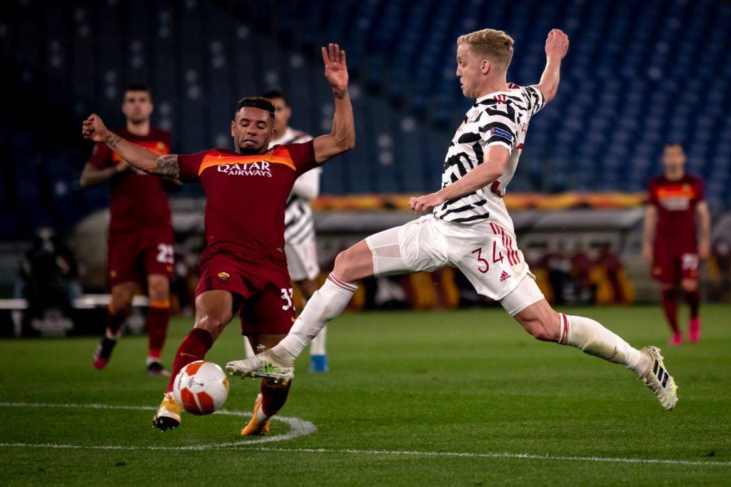 Donny van de Beek in de basis Europa League Manchester United AS Roma Arsenal Villarreal finale halve