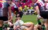 Mike Brown rugbyer Engelse schorsing 6 weken stamp trap in face gezicht tegenstander Taylor
