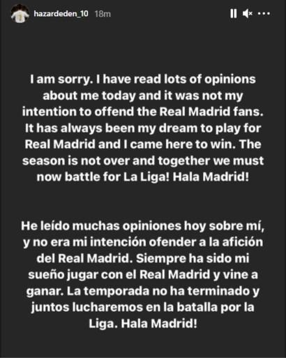 Hazard Sorry Eden Real Madrid Chelsea lachen ploeggenoten team