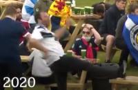 Schotland Kroatie Fan Supporters Teleurgesteld Boos Uitgeschakeld Tafel Trappen