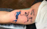 Tattoo Italie Engeland EK 2020 Bukayo Saka vasthouden Giorgio Chiellini